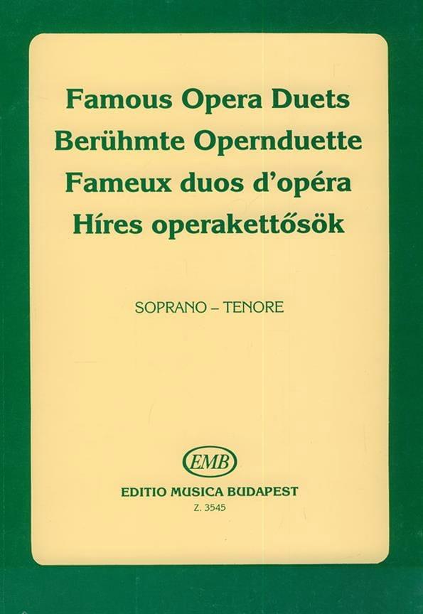Célèbres Duos D'opéra. Soprano-Ténor - laflutedepan.com
