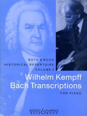 Bach Transcriptions Bach Jean-Sébastien / Kempff Wilhelm laflutedepan