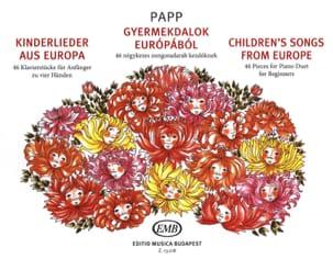 Children's Songs From Europe. 4 Mains Lajos Papp laflutedepan