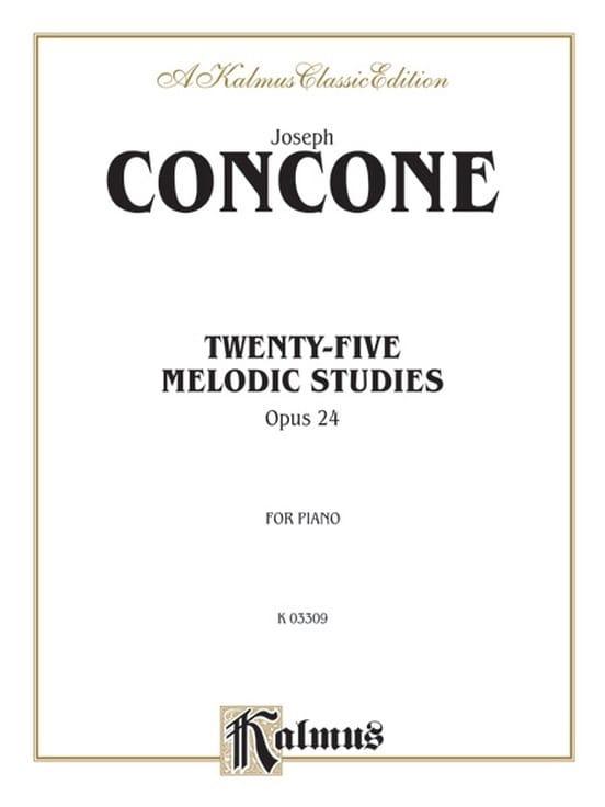 25 Melodious studies - Giuseppe Concone - Partition - laflutedepan.com