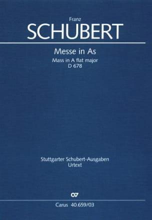 Messe en La bémol majeur D 678. 2nde version SCHUBERT laflutedepan