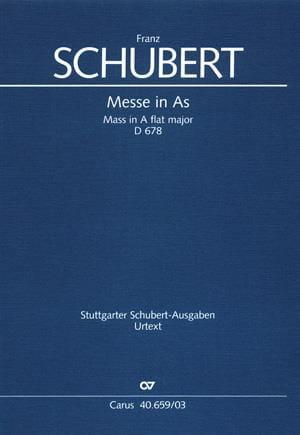 Messe en La bémol majeur D 678. 2nde version - laflutedepan.com