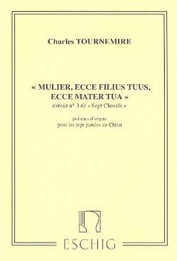 7 Chorals Poèmes Opus 67-3 Charles Tournemire Partition laflutedepan