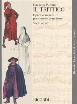 Giacomo Puccini - Il Trittico - Partition - di-arezzo.co.uk