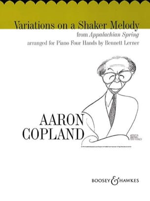 Variations On A Shaker Melody. 4 Mains COPLAND Partition laflutedepan