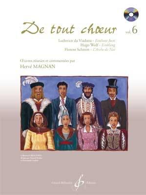 De tout choeur Volume 6 Hervé Magnan Partition Chœur - laflutedepan