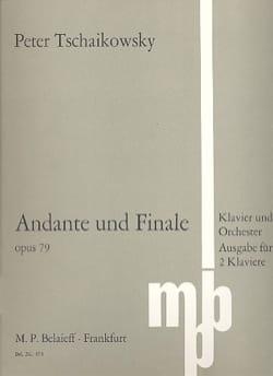 Andante et Finale Op. 79. 2 Pianos TCHAIKOVSKY Partition laflutedepan