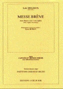 Léo Delibes - Brief Mass. - Partition - di-arezzo.com