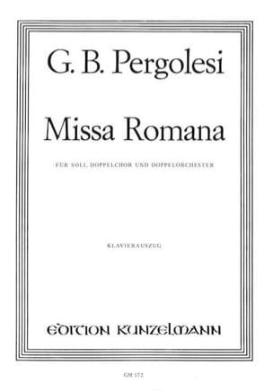 Missa Romana PERGOLESE Partition Chœur - laflutedepan