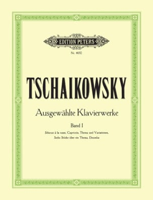 Oeuvres Pour Piano Volume 1 TCHAIKOVSKY Partition Piano - laflutedepan