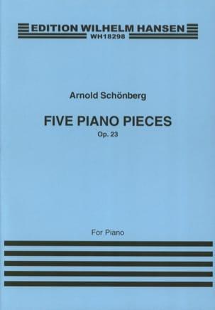 5 Klavierstücke Opus 23 SCHOENBERG Partition Piano - laflutedepan