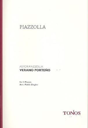Verano Porteno. 2 Pianos Astor Piazzolla Partition laflutedepan