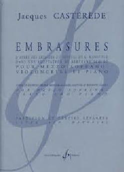 Embrasures Jacques Castérède Partition Violoncelle - laflutedepan