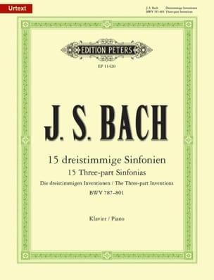 15 Sinfonias Bwv 787-801 BACH Partition Piano - laflutedepan