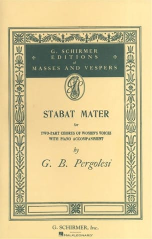 Stabat Mater PERGOLESE Partition Chœur - laflutedepan