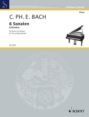 6 Sonaten. Volume 1 Carl-Philipp Emanuel Bach Partition laflutedepan