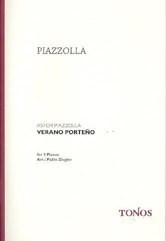 Verano Porteno. 2 Pianos - Astor Piazzolla - laflutedepan.com