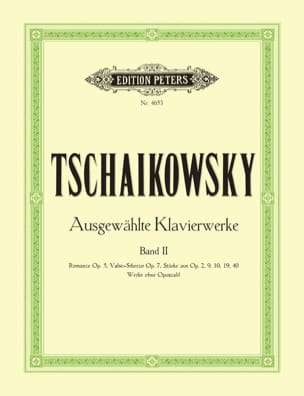 Oeuvres Pour Piano Volume 2 TCHAIKOVSKY Partition Piano - laflutedepan