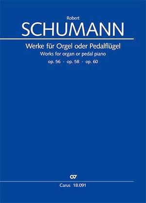 Werke für Orgel oder Pedalflügel SCHUMANN Partition laflutedepan