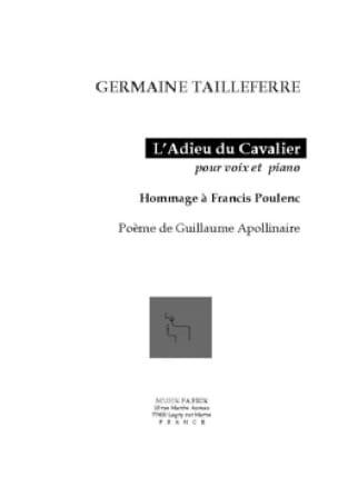 L'Adieu du Cavalier Opus 154 - Germaine Tailleferre - laflutedepan.com