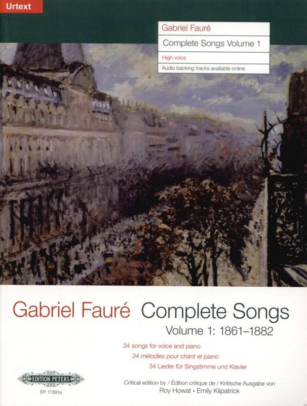 Complete songs Volume 1 Voix Haute - FAURÉ - laflutedepan.com
