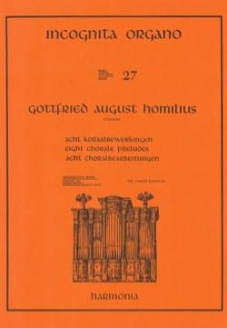 8 Chorals Préludes Gottfried August Homilius Partition laflutedepan