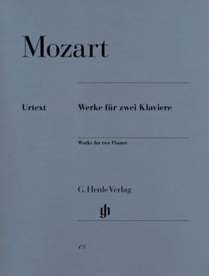 Oeuvres Pour 2 Pianos MOZART Partition Piano - laflutedepan
