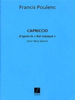 Capriccio pour 2 Pianos POULENC Partition Piano - laflutedepan