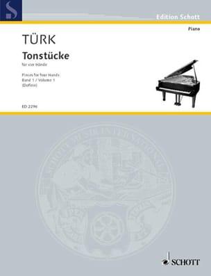 Tonstücke Volume 1. 4 Mains Daniel Gottlob Türk Partition laflutedepan