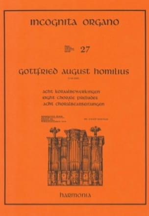 8 Chorals Préludes - Gottfried August Homilius - laflutedepan.com