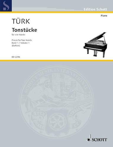 Tonstücke Volume 1. 4 Mains - Daniel Gottlob Türk - laflutedepan.com