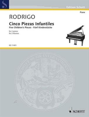 5 Pièces Pour Enfants. 2 Pianos RODRIGO Partition Piano - laflutedepan