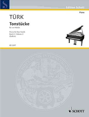 Tonstücke Volume 2. 4 Mains Daniel Gottlob Türk Partition laflutedepan
