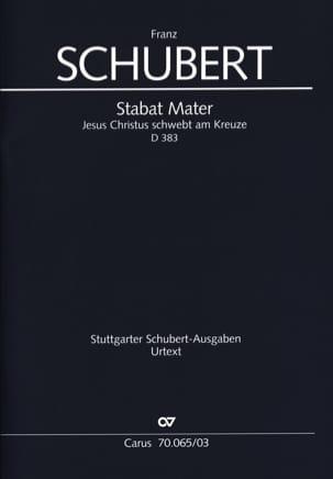 Stabat Mater D 383 SCHUBERT Partition Chœur - laflutedepan