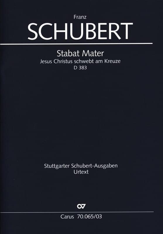 Stabat Mater D 383 - SCHUBERT - Partition - Chœur - laflutedepan.com