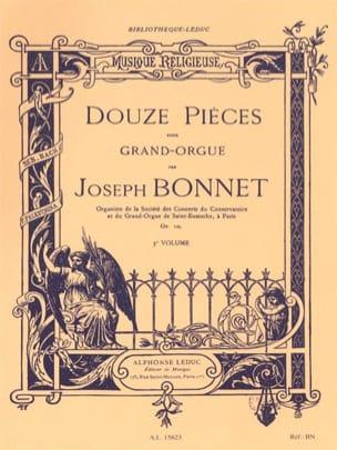 12 Pièces Opus 10 Joseph Bonnet Partition Orgue - laflutedepan