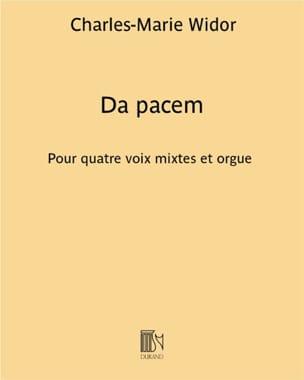 Da Pacem WIDOR Partition Chœur - laflutedepan