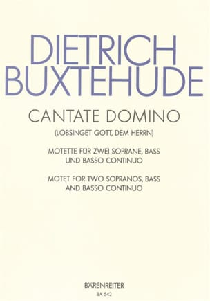 Dietrich Buxtehude - Cantate Domino Buxwv 12 - Partition - di-arezzo.co.uk