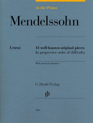Mendelssohn, At the Piano - Edition Urtext MENDELSSOHN laflutedepan