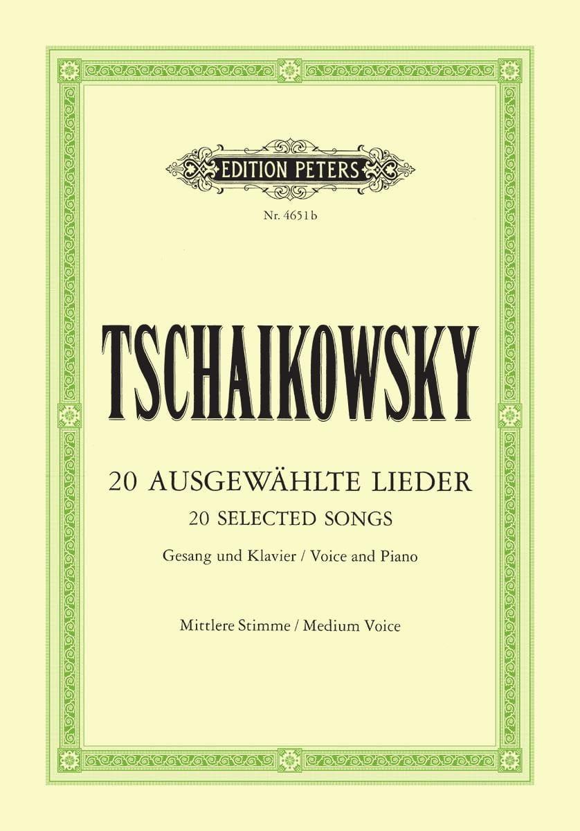 Lieder Choisis. Voix Moyenne - TCHAIKOVSKY - laflutedepan.com