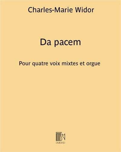 Da Pacem - WIDOR - Partition - Chœur - laflutedepan.com