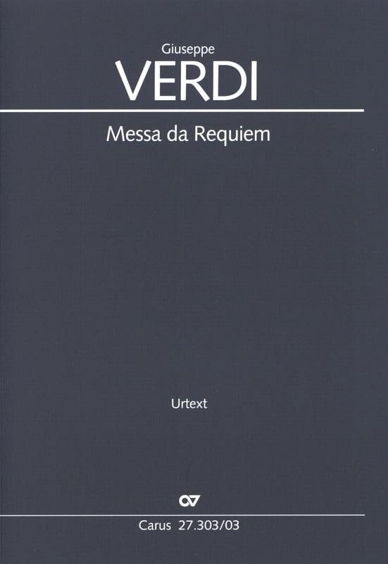 Messa Da Requiem - VERDI - Partition - Chœur - laflutedepan.com