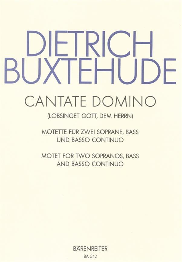 Cantate Domino Buxwv 12 - BUXTEHUDE - Partition - laflutedepan.com