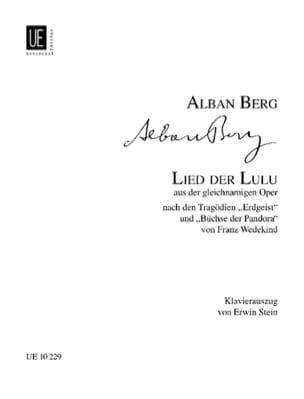 Lied der Lulu. BERG Partition Opéras - laflutedepan