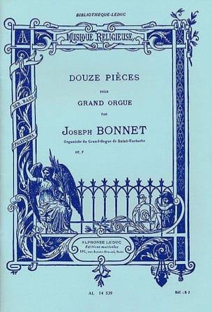 12 Pièces Opus 7 Joseph Bonnet Partition Orgue - laflutedepan