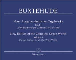 L'œuvre d'orgue, Volume 4 BUXTEHUDE Partition Orgue - laflutedepan