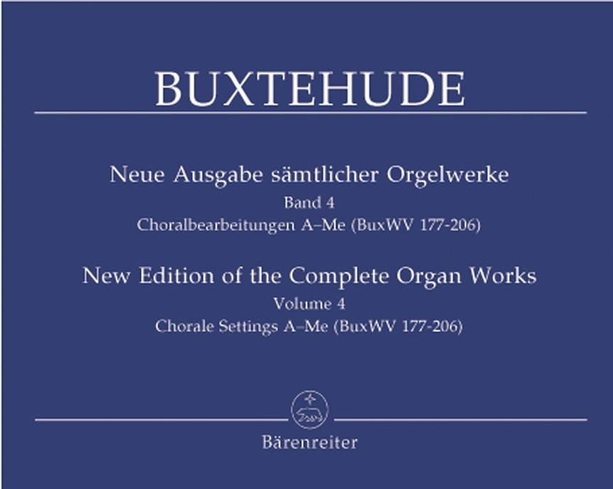 L'œuvre d'orgue, Volume 4 - BUXTEHUDE - Partition - laflutedepan.com
