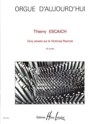 5 Versets Sur Victimae Paschali Thierry Escaich Partition laflutedepan