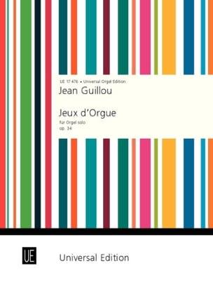 Jeux D'orgue Opus 34 Jean Guillou Partition Orgue - laflutedepan
