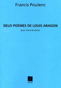 Francis Poulenc - 2 Poems of Aragon - Partition - di-arezzo.co.uk